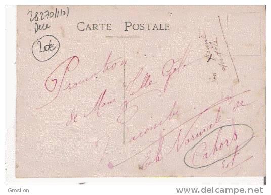 CAHORS (LOT) CARTE PHOTO D'UNE CLASSE DE L'ECOLE NORMALE (FILLES) - Cahors