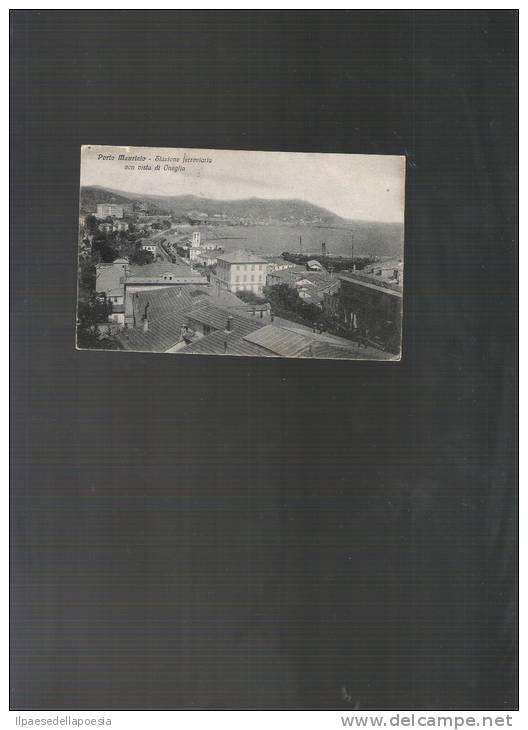 PORTO MAURIZIO - STAZIONE FERROVIARIA CON VISTA DI ONEGLIA- 1923 - Cartoline