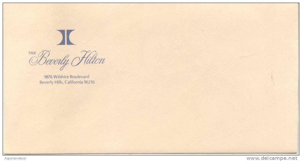 THE BEVERLY HILTON - 9876 WILSHIRE BOULEVARD BEVERLY HILLS CALIFORNIA U.S.A. SOBRE CON MEMBRETE CIRCA 1950 - Werbung