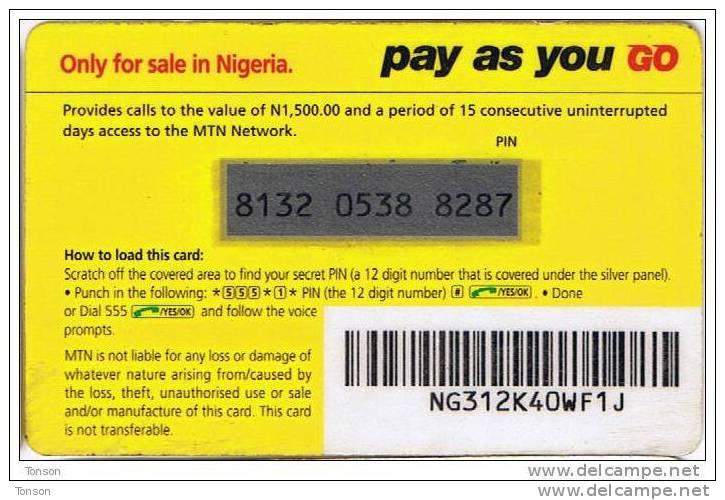 Nigeria, N 1,500.00, MTN Logo, 2 Scans. - Nigeria