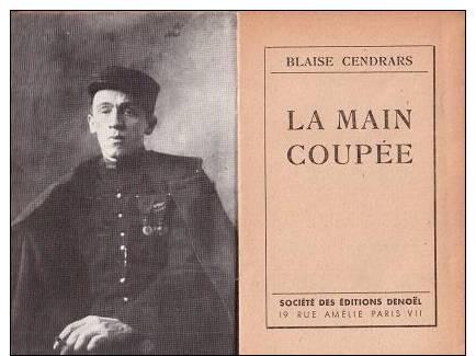 La main coup e guerre 1914 1918 l gion autobiographie blaise cendrars eo - Blaise cendrars la main coupee ...