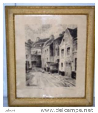 CHATELET « Impasse Pinette » Gravure D'A. CHAVEPEYER - Lithographies