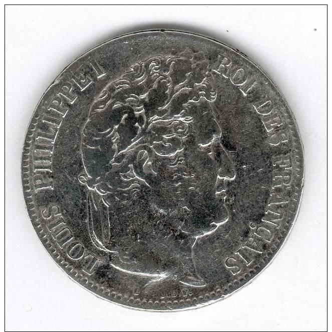 5 Francs Argent , Louis-Philippe Ier 1835 M - J. 5 Franchi