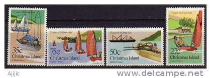 Ile Christmas. Club Nautique De L´ile. 4 -tp Neufs **  175/8. Cote 4.50 € - Christmas Island
