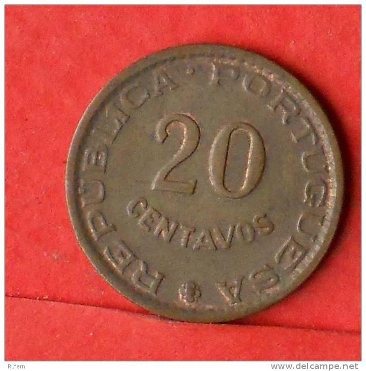 ANGOLA  20  CENTAVOS  1962   KM# 78  -    (1312) - Angola
