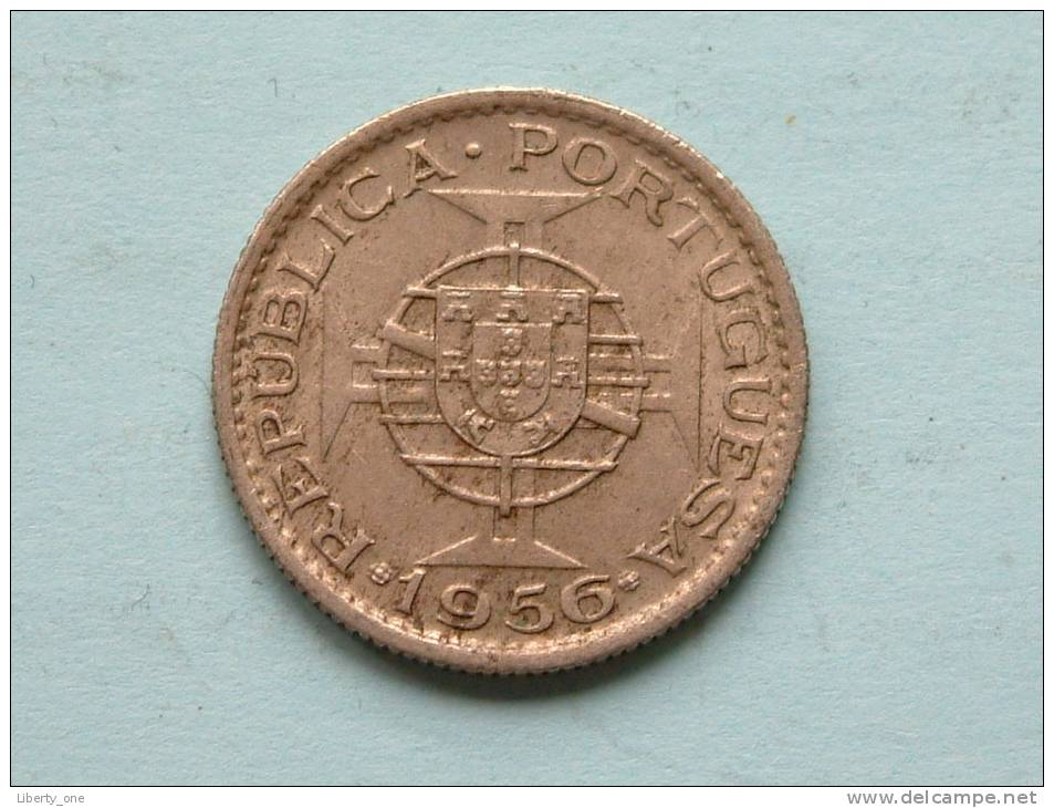 2 1/2 ESCUDOS - 1956 / KM 77 ( Uncleaned Coin / For Grade, Please See Photo ) !! - Angola