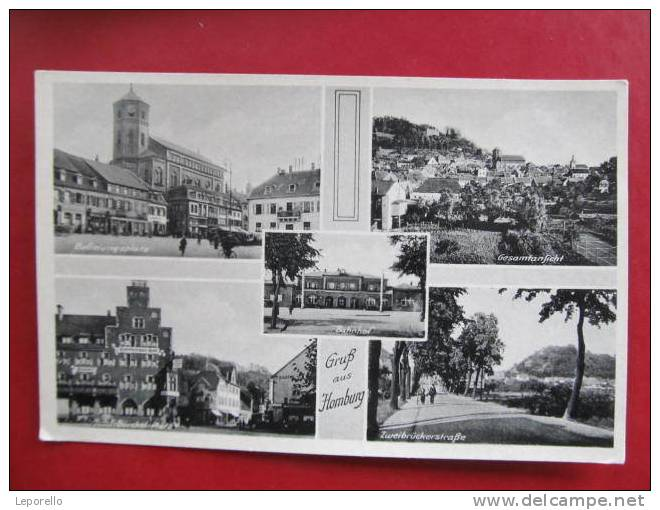 AK HOMBURG Strasse Bahnhof Ca.1940 //  D*6671 - Saarpfalz-Kreis