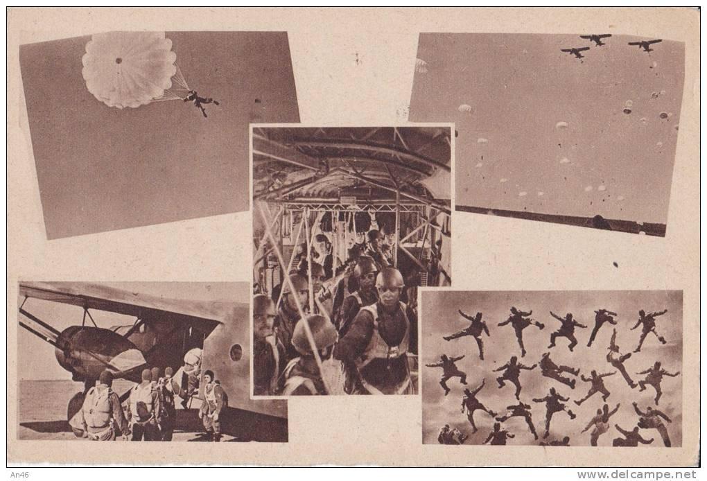 PARACADUTISTI AVIAZIONE MILITARE ITAL. - BELLA FOTO D´EPOCA ORIGINALE 100% - Paracadutismo
