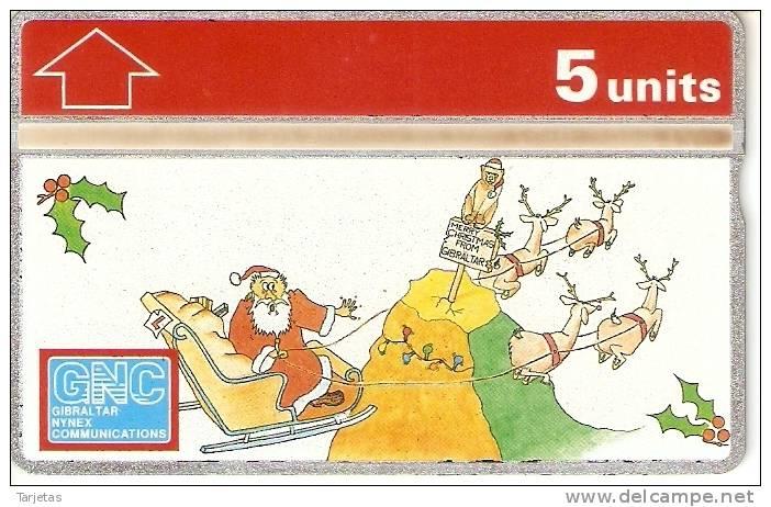 Nº 32 TARJETA DE GIBRALTAR DE NAVIDAD-CHRISTMAS  NUEVO-MINT (PAPA NOEL) - Gibraltar