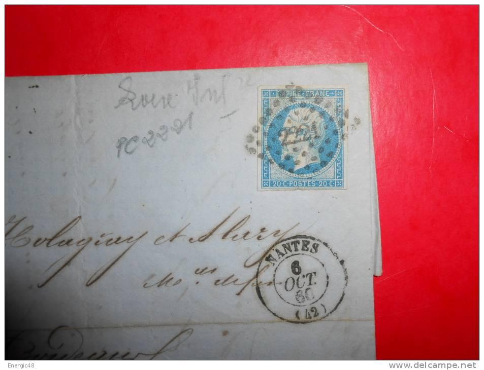 E23;n°14 Sur Lettre Rouen Pour Bordeaux,nuances,variété;verso Ambulants - 1853-1860 Napoléon III