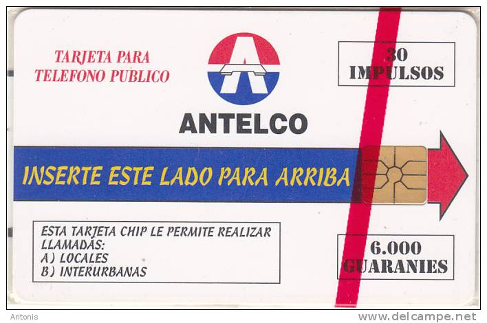 PARAGUAY - Telecom Logo, First Issue 30 Units/6000 Guaranies, Mint - Paraguay