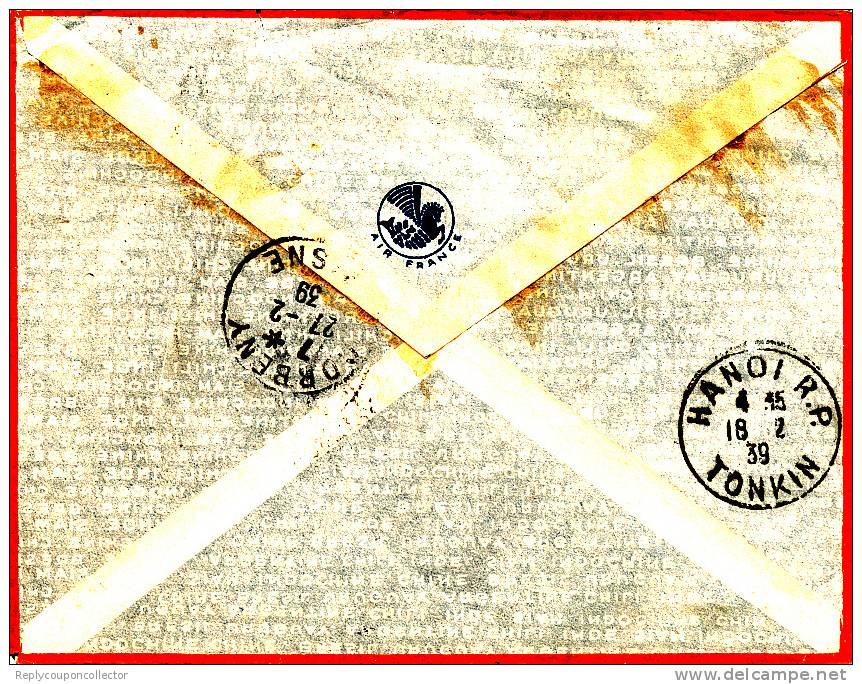 VINH - 1938 , Brief Nach Frankreich - Vietnam