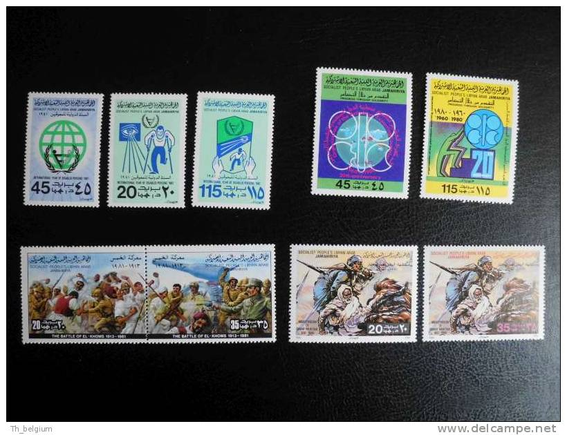 Libya 1980 - 1984 Great Selection Of MNH Stamps Series + S/S - Libye