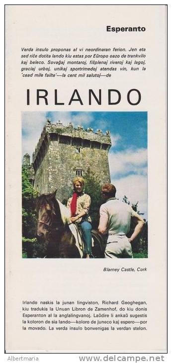 Brochure About Ireland In Esperanto - Broŝuro Pri Irlando - Oude Boeken
