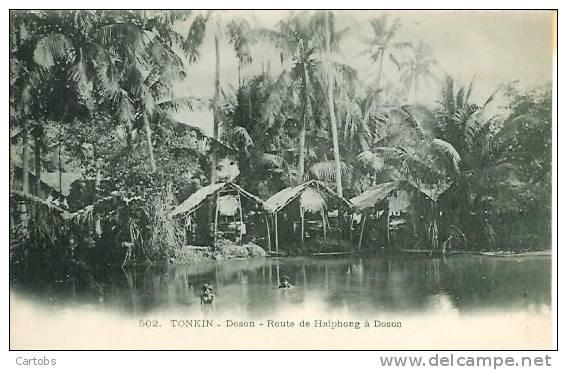 TONKIN  Doson  Route De Haïphon à Doson - Viêt-Nam