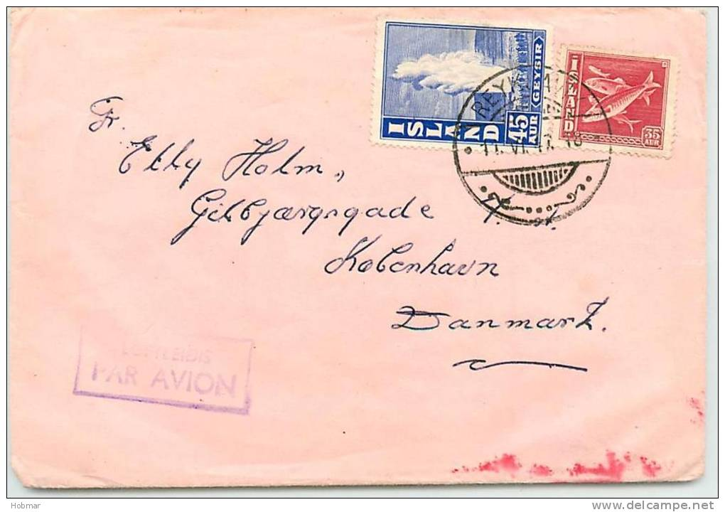 Iceland Airmail Cover - Island