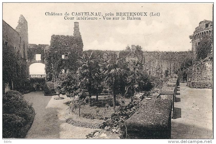 Château De CASTELNAU , Près De Bretenoux : Cour Intérieure Neuve Excellent état - Bretenoux