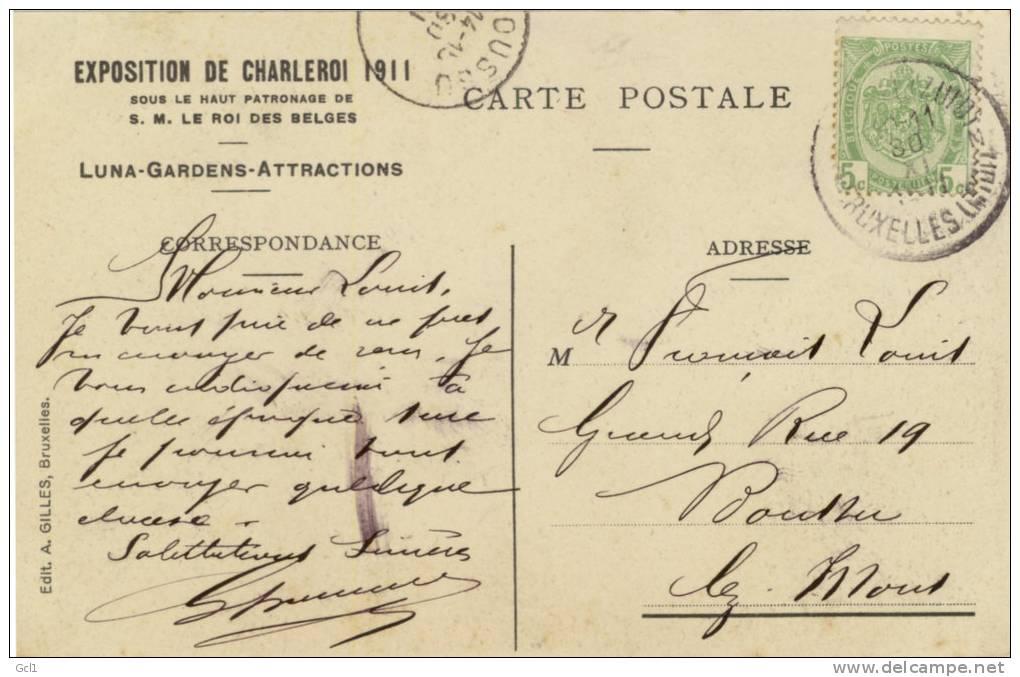 Exposition De Charleroi  1911 - Luna Gardens - Charleroi