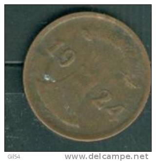 Allemagne 2 REICHpfenning 1924 G  - Pieb0212 - 2 Rentenpfennig & 2 Reichspfennig