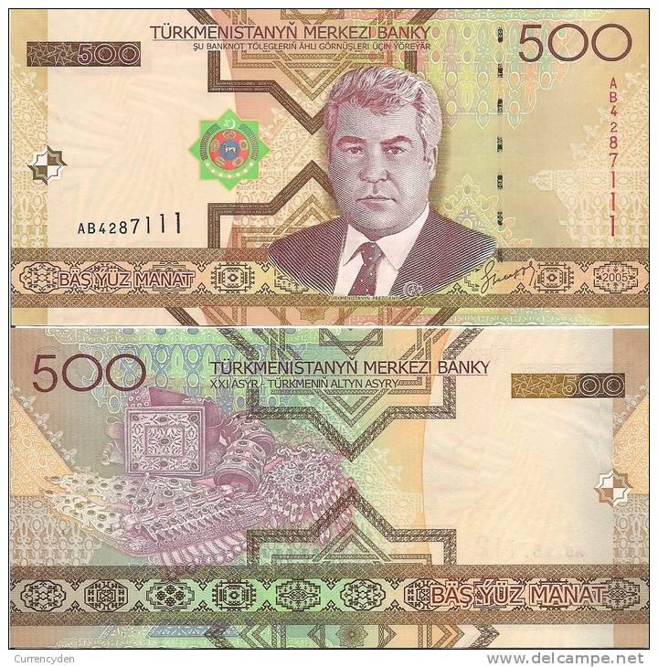 Turkmenistan P19, 500 Manat,2005, Niyazov / Local Jewelry $5CV - Turkménistan