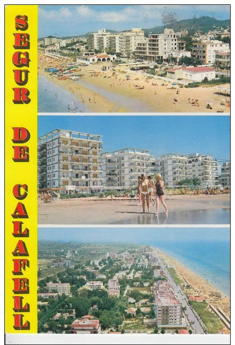 SEGUR DE CALAFELL.MULTIVISTA 3 FOTOS  CIRCULADA  1973.CON  SELLO - Tarragona