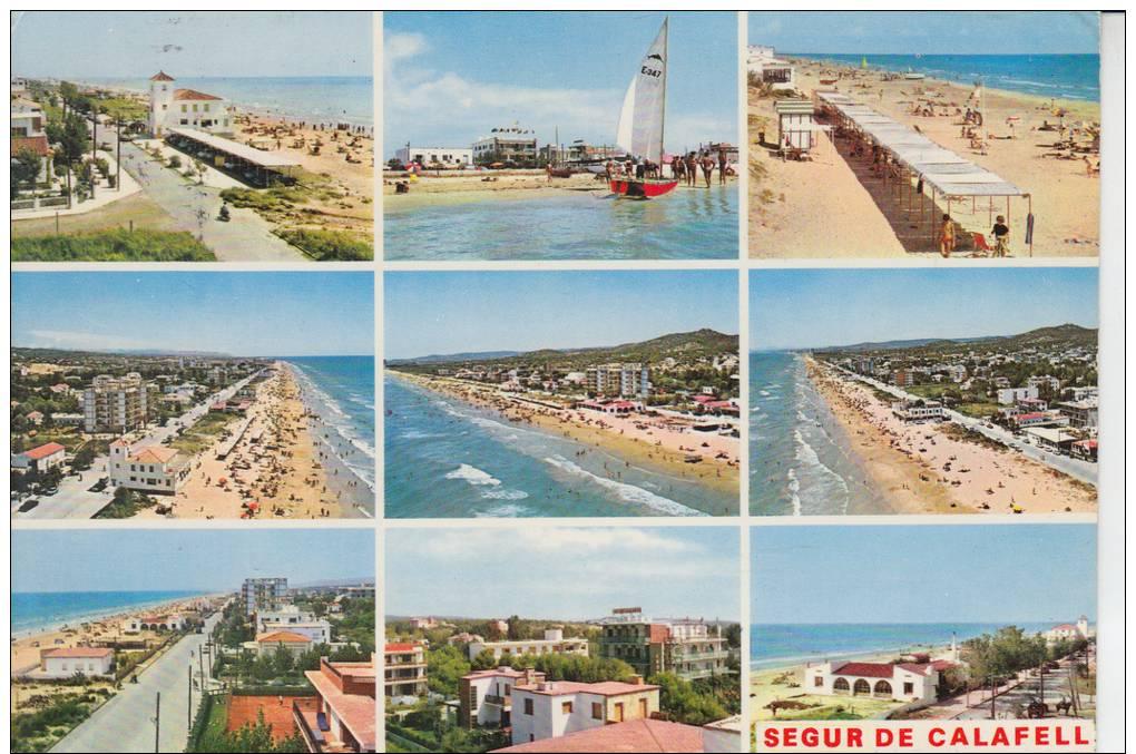 SEGUR DE CALAFELL.MULTIVISTA 9 FOTOS  CIRCULADA  1973.CON  SELLO - Tarragona