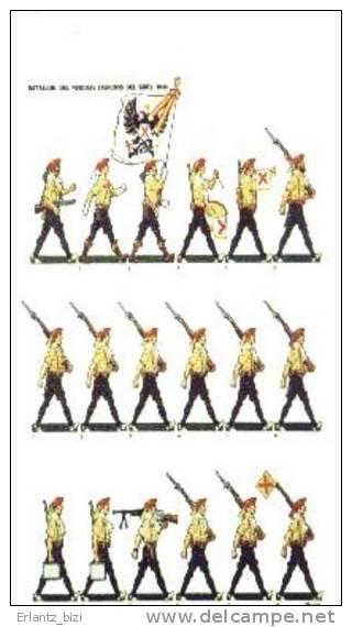 Postal Carlista. Batallón Del Requeté (Tercios Del Sur). Guerra Civil Española. - Documentos