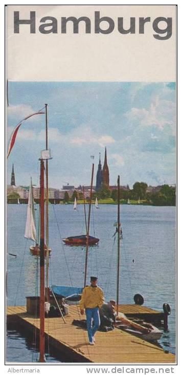 (BR) Brochure About Hamburg (Germany) In Esperanto - Broŝuro Pri Hamburgo (Germanio) - Oude Boeken