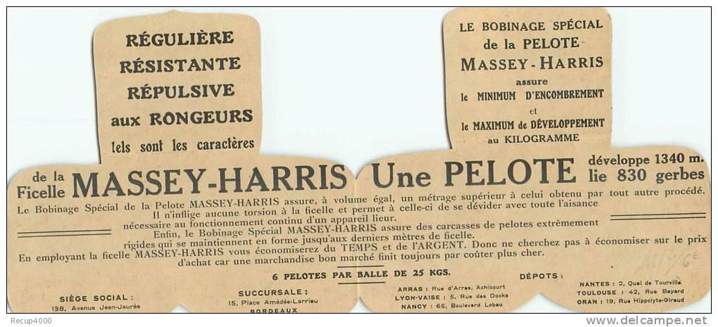 PUBLICITE  Ficelle De Lieuse Agriculture  MASSEY HARRIS  2 Scans - Advertising