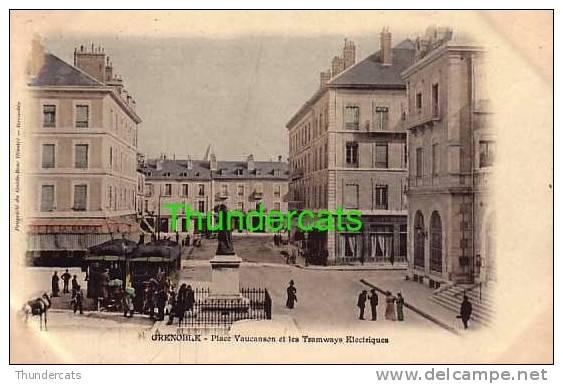 CPA 38  GRENOBLE  PLACE VAUCANSON ET LES TRAMWAYS ELECTRIQUES TRAM - Grenoble