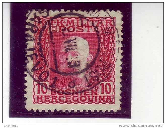 FRANZ JOSEPH-10 H-KuK POST-POSTMARK-SARAJEVO-BOSNIA AND HERZEGOVINA-1912 - Bosnia And Herzegovina