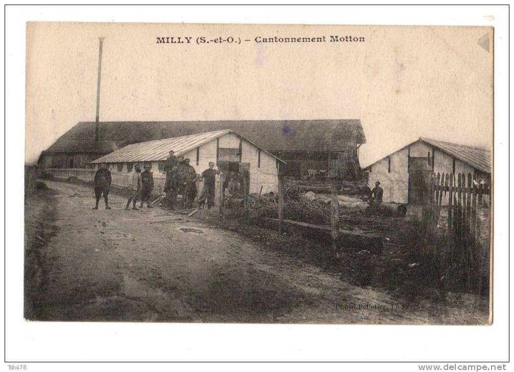 91---MILLY----cantonnement Motton--voir 2 Scans - Milly La Foret
