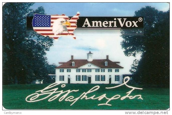 *U.S.A. - AMERIVOX* - Scheda Usata - Stati Uniti