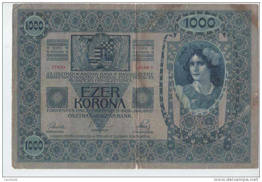 BILLET DE 1000 Ezer Korona 1902 - Autriche