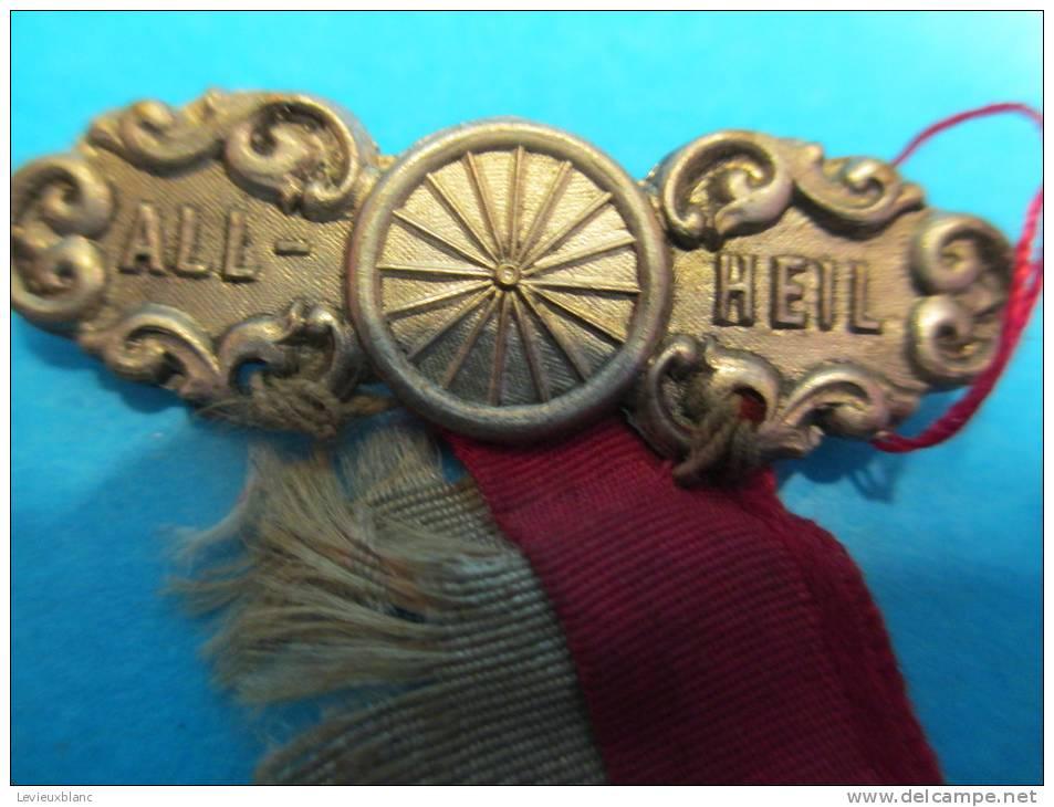 Médaille De Compétition /Cyclisme/strasbourg/ All Heil/Argent ?  / 1906         D132 - Cyclisme