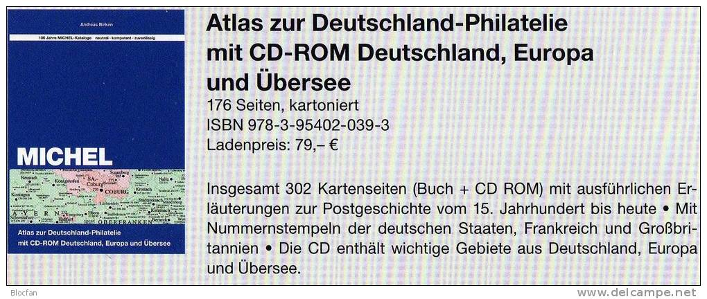 Atlas Of The History-Philatelie MlCHEL 2013 New 79€ With CD-Rom Postgeschichte A-Z Nummern-Stempel Catalogues Of Germany - Other