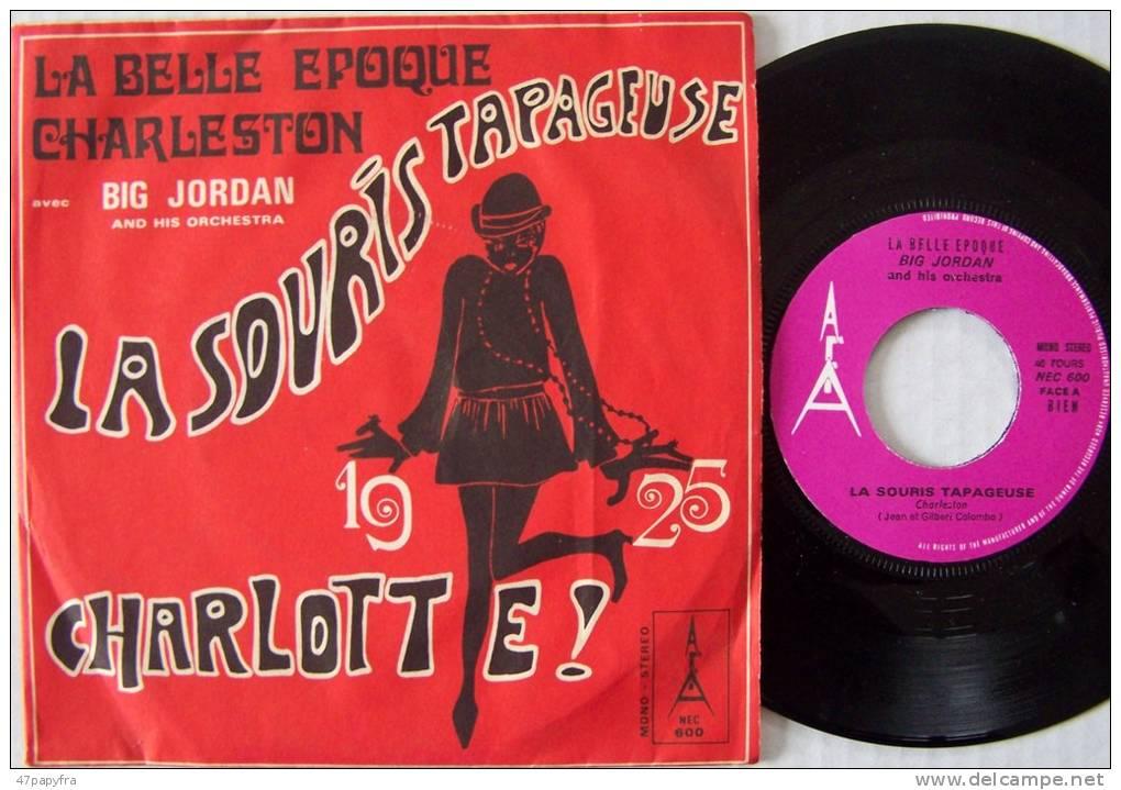 BIG JORDAN SP Jukeboxe ORIGINAL BIEM CHARLESTON La Souris Tapageuse EX / Mint Parfait état - Disco, Pop