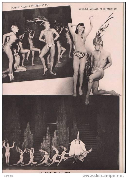 Beau Programme FOLIES BERGERE Spectacle Nu Nude Music Hall - Programmes