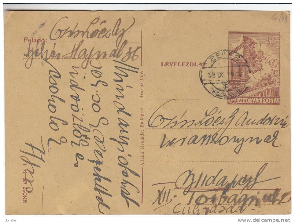 Trains - Industrie - Hongrie - Entier Postal De 1918 - Postal Stationery