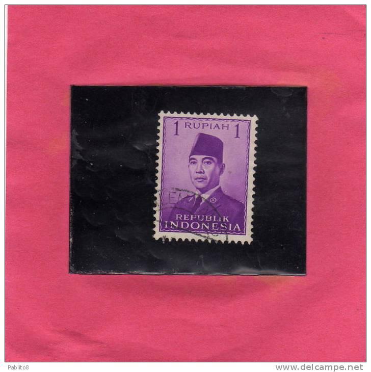 INDONESIA 1951 President Sukarno PRESIDENTE  USED - Indonesia