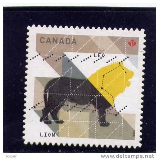 CANADA  2012, USED # ,  ZODIAC  SIGNS: LEO    SIGNE DU ZODIAQUE LE LION USED - Carnets