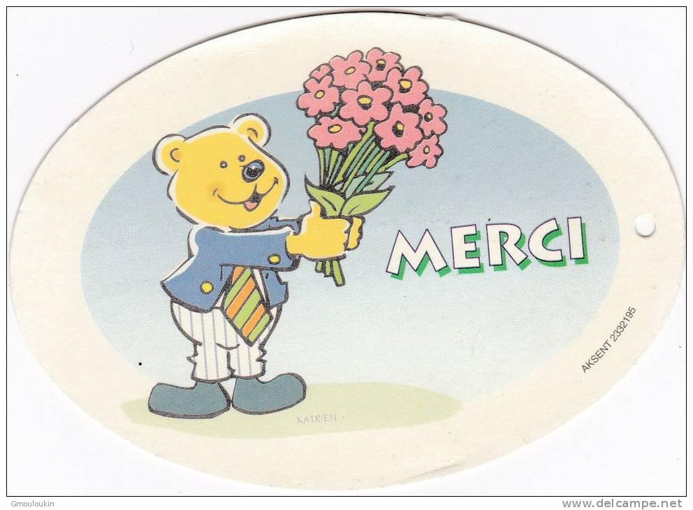Petite Carte De Fleuriste - Ourson - Bouquet - Feiern & Feste