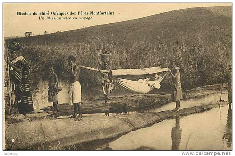 Afrique - Africa -malawi - Ref A346- Mission Du Shiré Des Peres Montfortains -missionnaire En Voyage - - Malawi