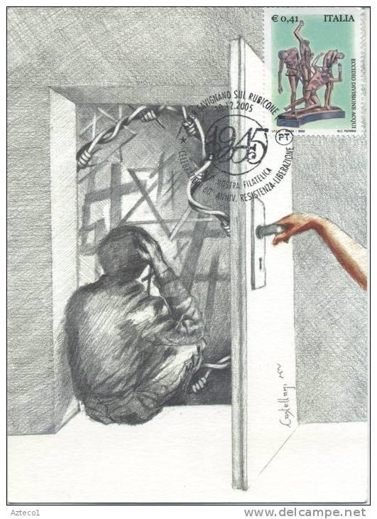 ITALIA - FDC MAXIMUM CARD 2005 - ANNIVERSARIO DELLA LIBERAZIONE - ANNULLO SPECIALE - Cartoline Maximum