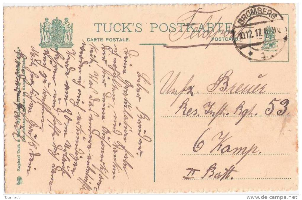 Bromberg Brahepartie Modische Damen Auf Motor Barkasse Color Floss Feldpost 10.12.1917 Bydgoszcz - Westpreussen