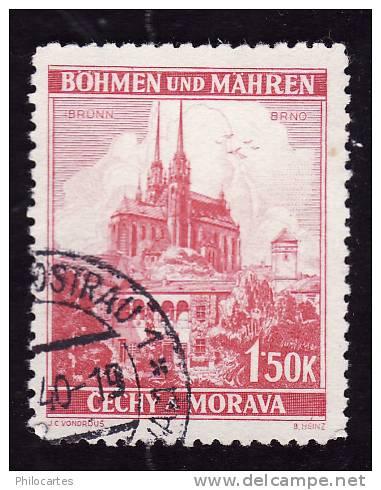 Bohême Et Moravie  1939  - YT 30  - Oblitéré - Bohemia & Moravia