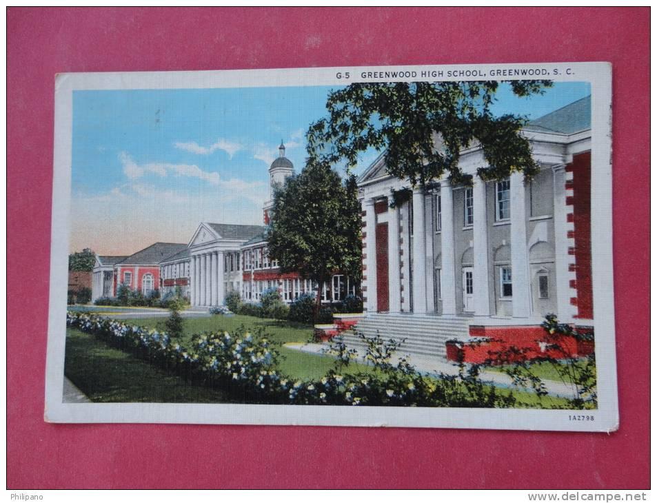 - South Carolina > Greenwood    High School = ===  ===  ==ref  820 - Greenwood