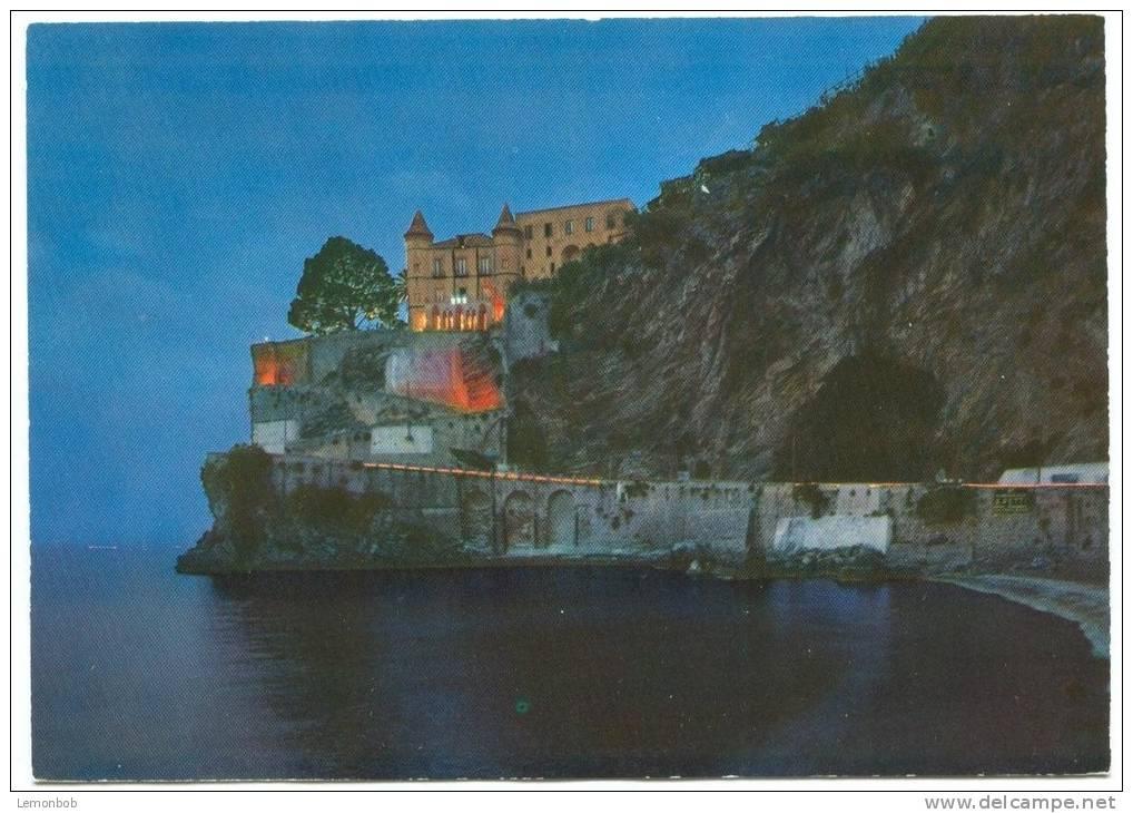 Italy, MAIORI, Castello Miramare Visto Di Notte Unused Postcard [13567] - Salerno