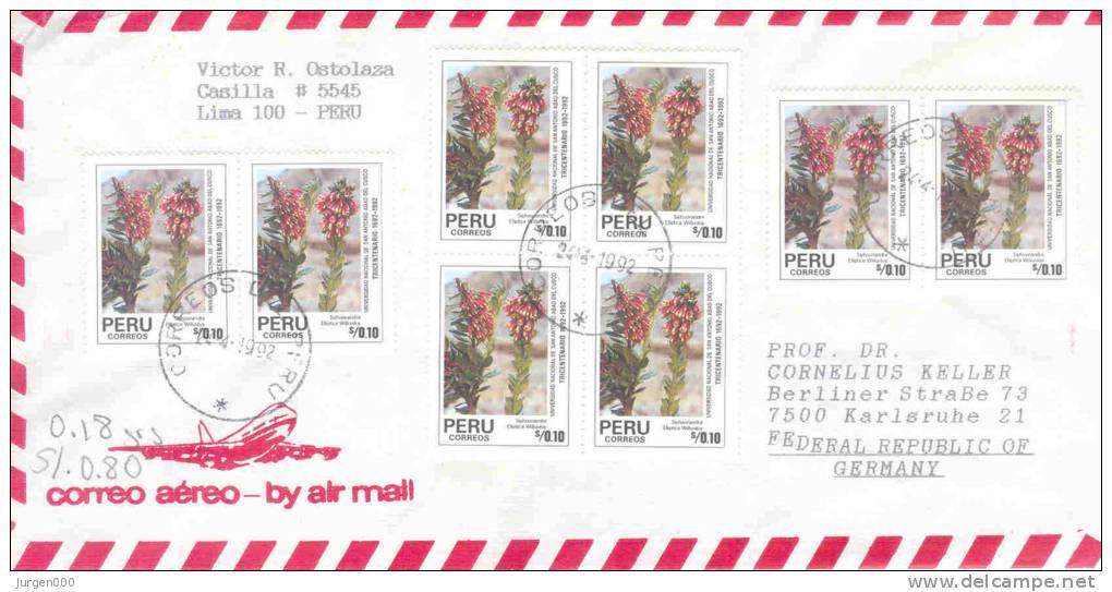 Peru- Omslag By Air Mail  1992 (RM0184 ) - Végétaux
