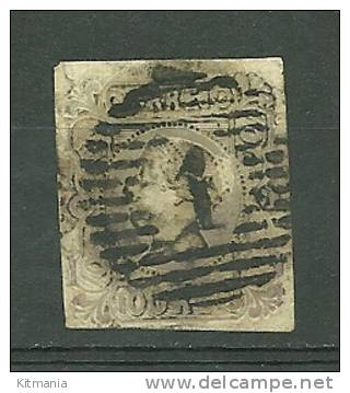 Portugal #4 D.Maria II 100r Used - L3129 - 1853 : D.Maria
